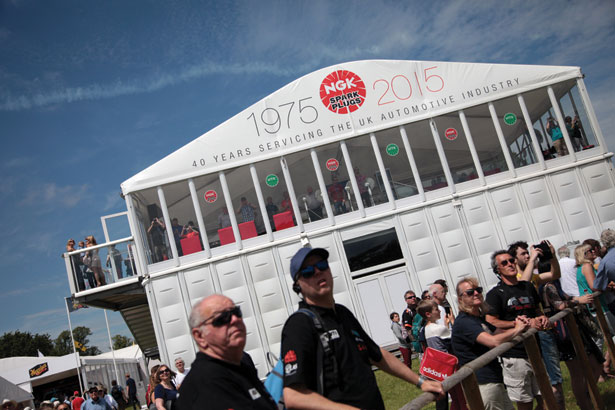 Trade Stands Goodwood Festival Speed : Big crowds at ngk stand goodwood festival of speed